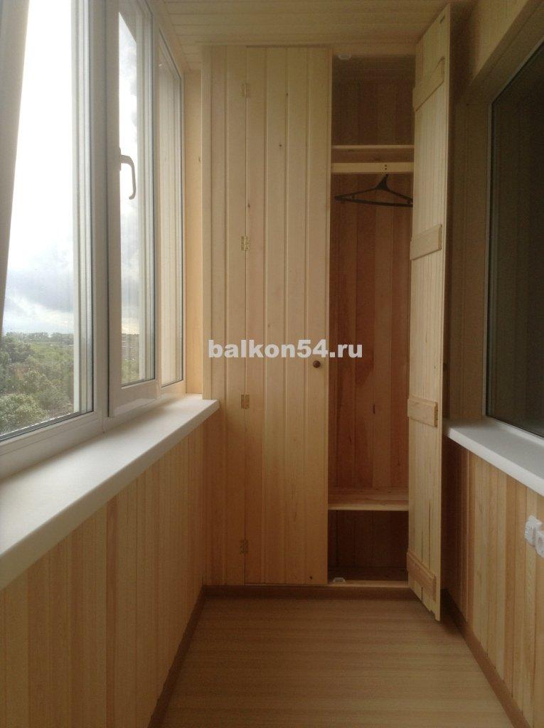 Шкаф на балкон из вагонки своими руками